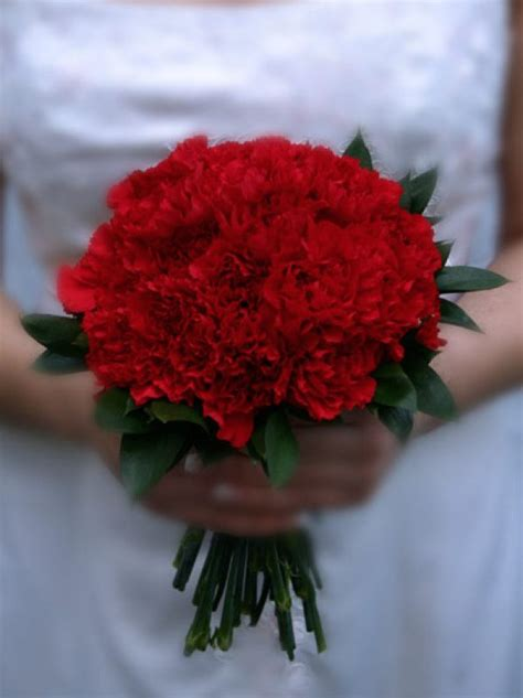 red carnation wedding affordable bridal bouquets