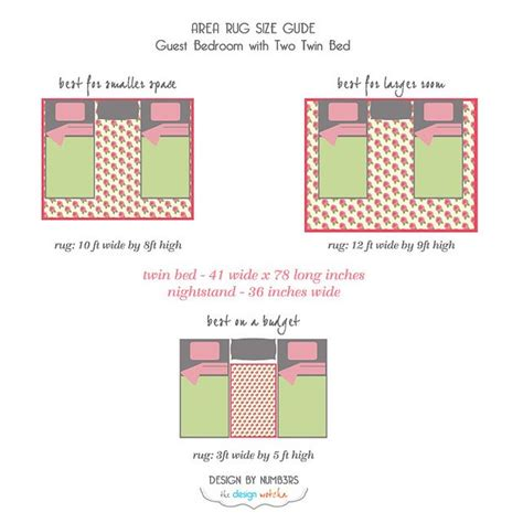 Bedroom Area Rug Size Rugs 101 How To Select A Rug Area Rug Size Guide Guest Bedroom Two Bed By Design Wotcha