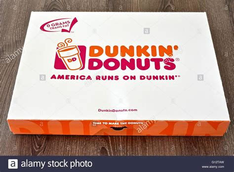 box  dunkin donuts stock photo  alamy