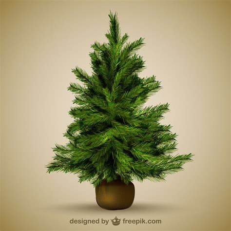 christmas tree illustration vector free download