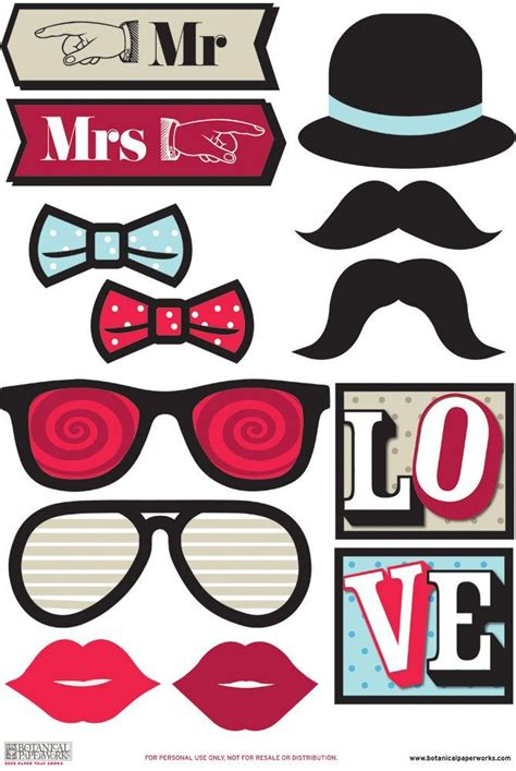 free printable hollywood photo booth props 17 best images about photobooth san valent 237 n on pinterest