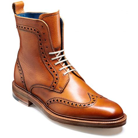 mens brouge boots barker hockney wingtip brogue boots marshall shoes