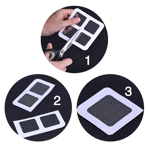 24 hour house window repair window and door screen repair patches set of 6 life changing products