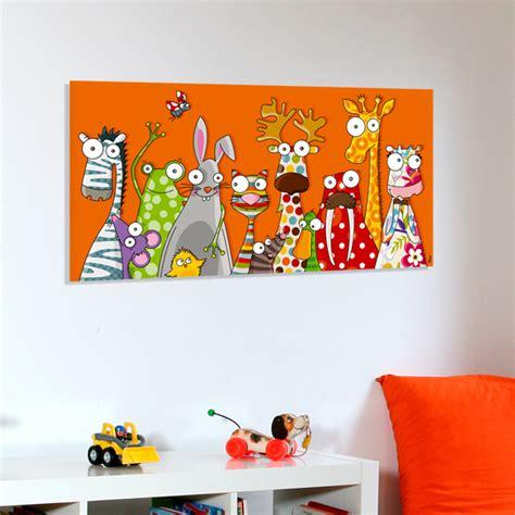 tableau pour chambre enfant tableau toile les animaux rigolos tab 054 boutique de