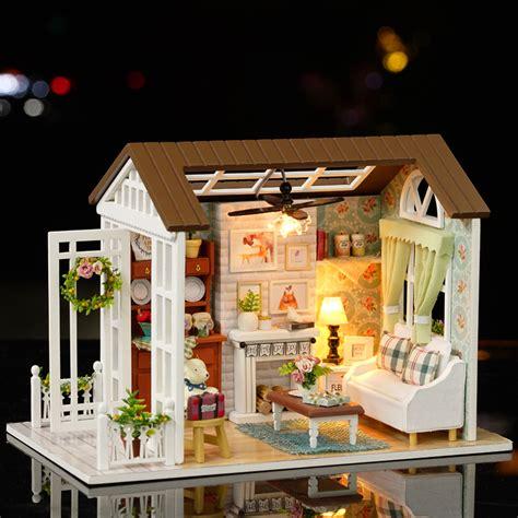 Dollhouse Handmade - diy miniatura dollhouse wooden handmade house happy