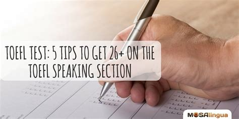 7 Tips On Speaking by Toefl Test 5 Tips To Get 26 On The Toefl Speaking