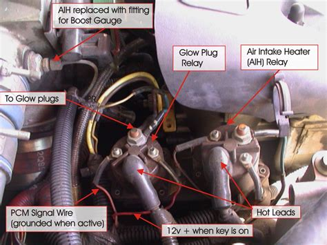 2000 7 3 powerstroke glow plug relay wiring glow plug question for 2000 7 3l powerstroke ford truck enthusiasts forums