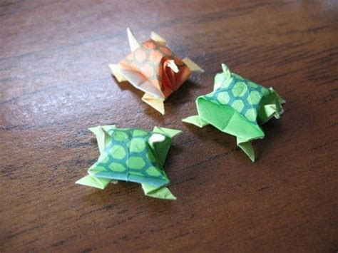 Origami Turtle Tutorial - miniature origami turtles 183 how to fold an origami animal