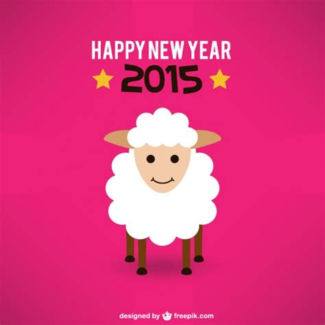 new year sheep facts new year card with sheep vector free