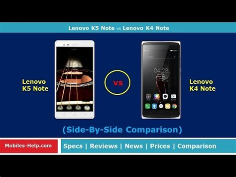 Lenovo K4 Note Vs Lenovo K5 Note Lenovo K5 Note Vs Lenovo K4 Note Which Is Best