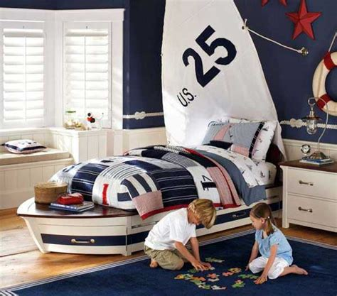 nautical themed bedroom curtains nautical decorating ideas for kids rooms from pottery barn