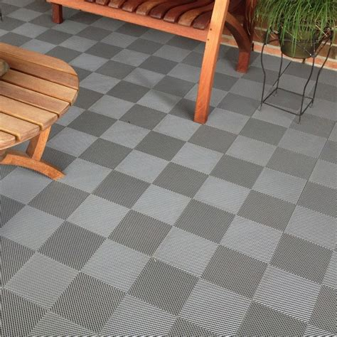 blocktile deck and patio flooring interlocking perforated