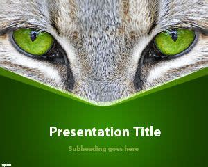 cat powerpoint template animals free powerpoint templates