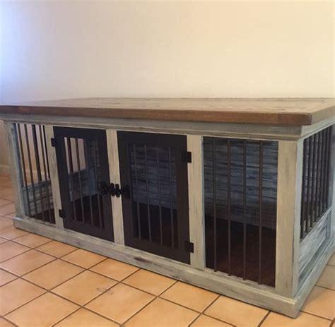 farmhouse double dog kennel dog crate furniture dog