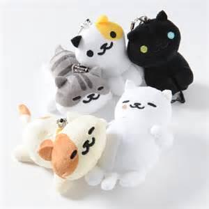 neko atsume phone cleaner mascot plush collection tokyo otaku mode shop