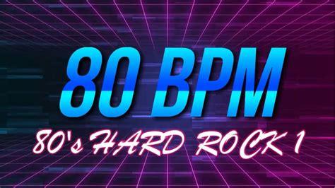 80 bpm shuffle beat drum track 80 bpm 80 s hard rock 4 4 drum track metronome youtube