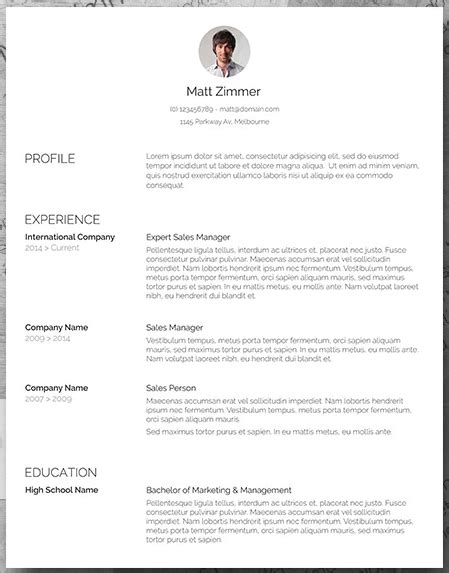 19 Free Resume Templates You Can Customize In Microsoft Word Headshot Layout Templates