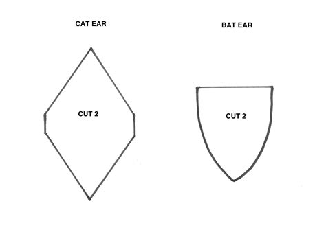 cat ear template cat ear cut out patterns patterns kid