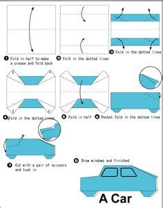 How To Make A Car With Paper - origami on origami paper plane and diy origami