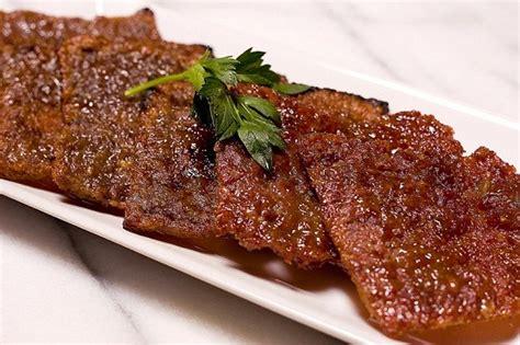 resep   membuat dendeng daging sapi kering enak