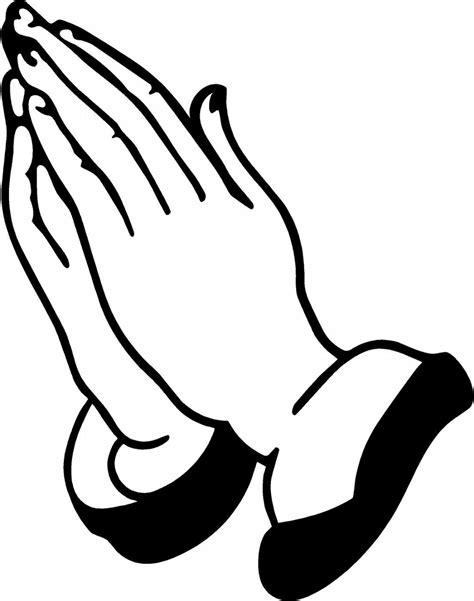 coloring page of praying hands praying hands coloring sheet clipart best