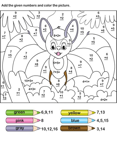 Addition Coloring Worksheets by Math Addition Worksheets 3rd Grade Free Printable Math