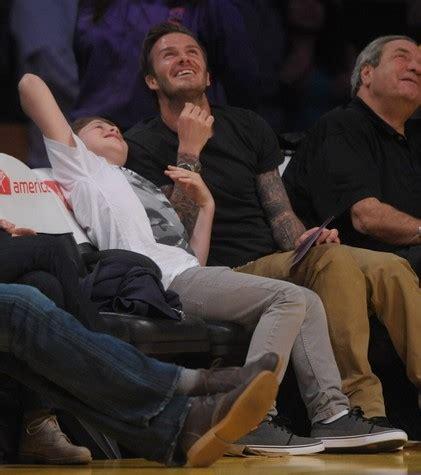 Beckham Venessa photo david beckham est un papa si craquant