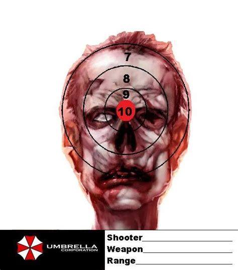 printable zombie targets zombie targets printables pinterest more target