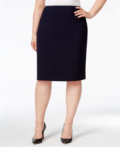 nine west plus size pencil skirt in black navy save 12