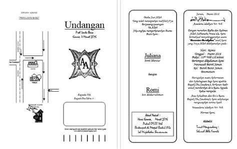template undangan pernikahan ms word download desain undangan pernikahan format word rakus share