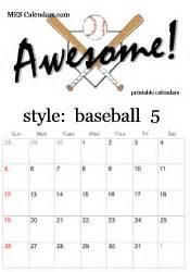 sports calendar template printable baseball calendars customizable sports