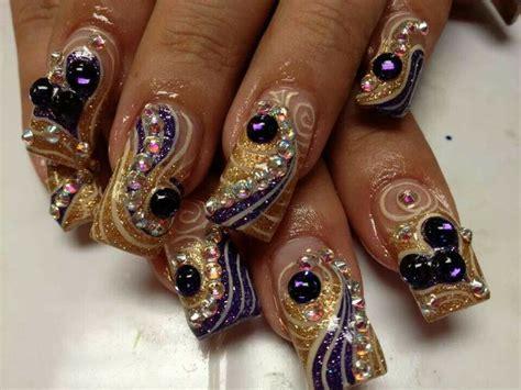 imagenes de uñas acrilicas estilo sinaloa u 241 as acrilicas decoradas con piedras estilo sinaloa