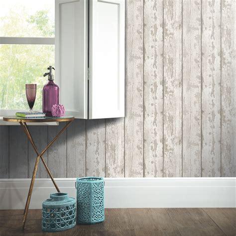 Arthouse White Washed Wood Wallpaper   Decorating, DIY   B&M
