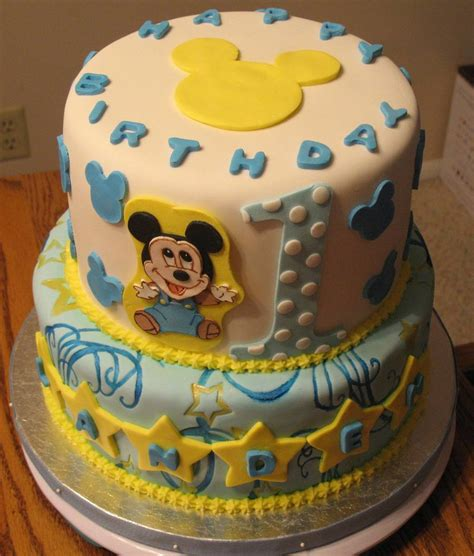 Baby Birthday Cake by Baby Mickey S 1st Birthday Cake Cakecentral