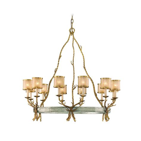 Silver Leaf Chandelier Corbett Lighting Parc Royale Gold And Silver Leaf Chandelier 66 012 Destination Lighting