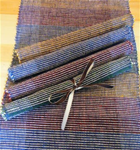 How To Make Paper Yarn - paper yarn placemats all fiber arts