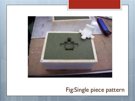 single piece pattern in casting pattern allowances in metal casting