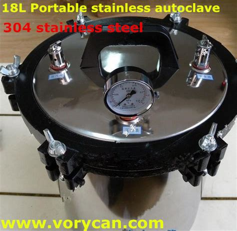 sterilize tattoo equipment with pressure cooker 18liters advanced xfs 280a 304 stainless steel portable