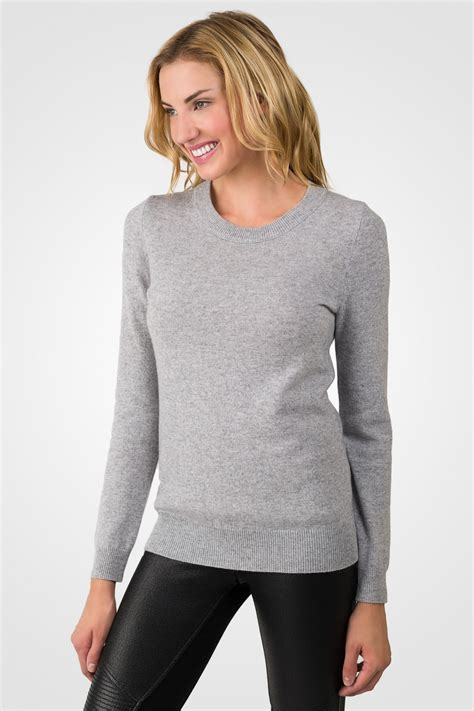 And Sweater lt grey crewneck sweater j