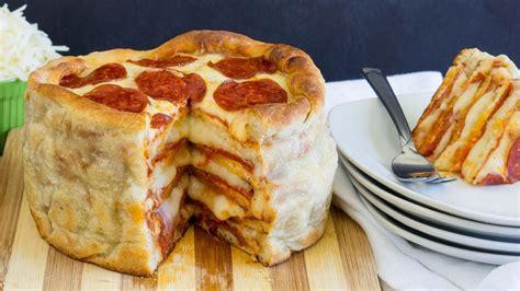 pepperoni pizza cake recipe from pillsbury com