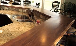 Standard Size Kitchen Island walnut wood raised breakfast bar countertops in virginia
