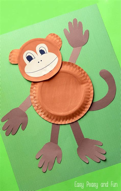 And Crafts With Paper - paper plate monkey paper plate crafts for