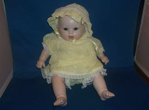 porcelain doll yellow dress bisque porcelain baby doll yellow dress bloomers bonnet