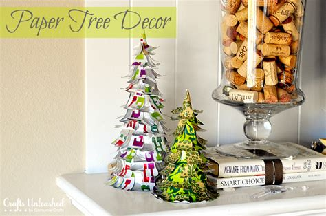 Make Your Own Paper Decorations - paper tree diy decorations tutorial