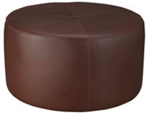 large round upholstered ottoman leather round drum cocktail bench ottoman club furniture