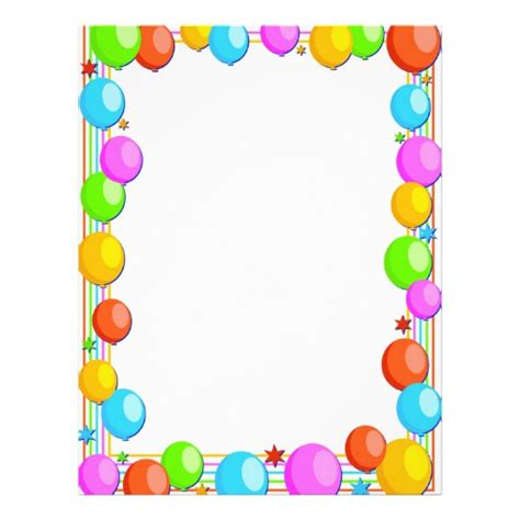 balloon border template free balloon border zazzle