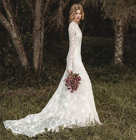 Brautkleid Spitze Langarm by Best Sleeve Lace Wedding Dresses For Bridals