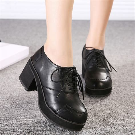 oxford shoes with heel chunky oxford heels fs heel