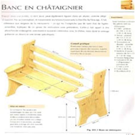 Plan Pour Fabriquer Un Banc En Bois by Quelques Liens Utiles