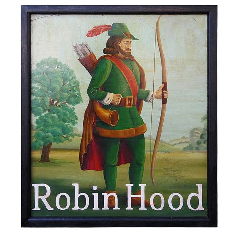 robin hood eso material english pub sign robin hood at 1stdibs